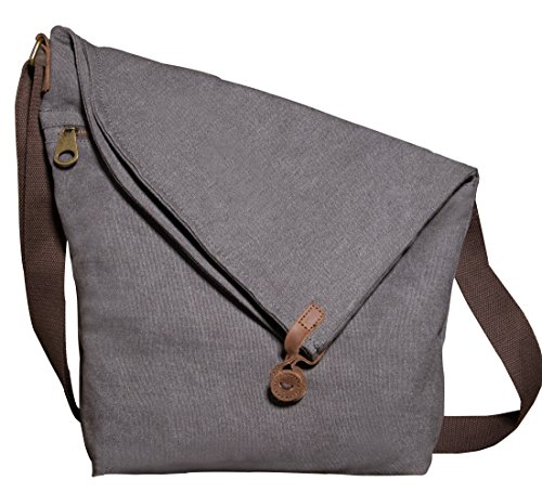 Kemy's Oversized Canvas Crossbody Satchel Bags for Women Hobo Handbags Cross Body Tote Unisex Vintage Men Leather Messenger Bag Over the Shoulder Purse Travel Large
