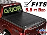 Gator 2014-2018 Chevy Silverado GMC Sierra 5.8 FT. Bed Recoil Retractable Tonneau Truck Bed Cover (G30461) (Matte) Made in The USA