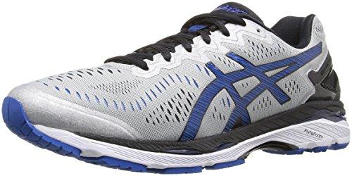 ASICS Men's Gel-Kayano 23 Running Shoe, Silver/Imperial/Black, 9 M US