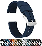 22mm Navy BlueBARTON Elite Silicone Watch Bands - Quick Release - Choose Strap Color & Width