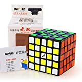 cuberspeed Qiyi Wushuang 5x5 Black Magic Cube MoFangGe MFG Wuchuang 5x5x5 Black Speed Cube