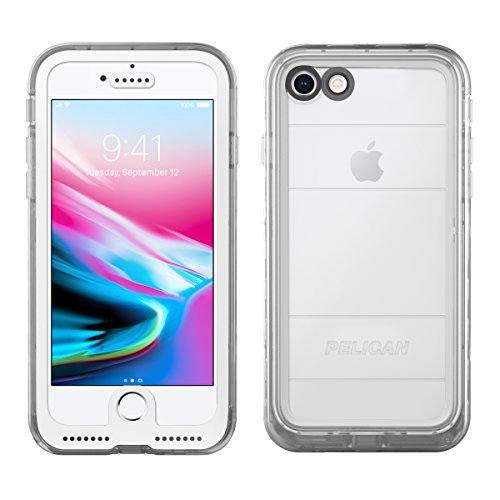 iPhone 8 Case | Pelican Marine Waterproof Case - fits iPhone 8 and iPhone 7 (Clear)
