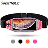 Running Belt, Exercise Fanny Pack For iPhone XR X 8 7 6 Plus Samsung Galaxy S9 + s8 s7 s6 Edge Note 8 5 LG G6 -Bounce Free Reflective Workout Waist Bag for Hiking Running Fitness- Sports Pouch for Men