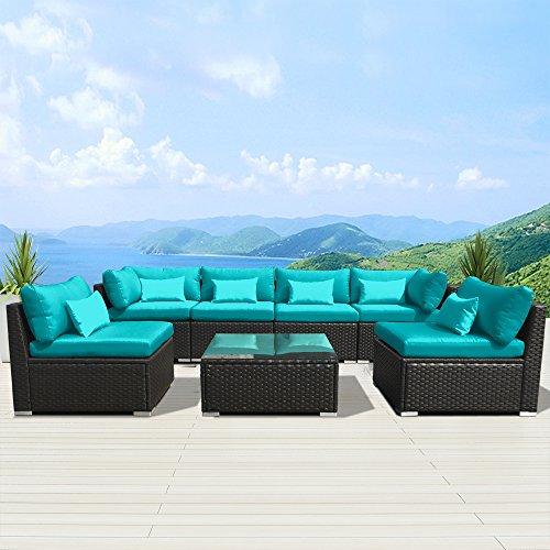 Modenzi-7G-U-Outdoor-Sectional-Patio-Furniture-Espresso-Brown-Wicker-Sofa-Set