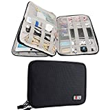 Electronics Accessories Organizer BUBM Travel Cable Bag Cord Gadgets Organizer for IPad-Black