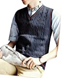 Product review for ARTFFEL-Men Classic V-Neck Sleeveless Knitted Vest Waistcoat Pullover Sweater