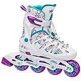 Roller Derby Girl's Stinger 5.2 Adjustable Inline Skate, Medium