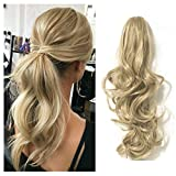 FUT Womens Claw Ponytail Clip in Hair Extensions 18' Long Curly Hairpiece