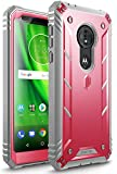 Moto G6 Play Rugged Case, Moto G6 Forge Rugged Case, Poetic Revolution [Built-in-Screen Protector] Heavy Duty Full Body Case for Moto G6 Play/Moto G6 Forge (2018 US Version) - Pink