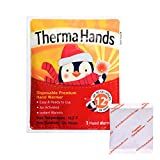 ThermaHands Hand Warmers [180 Packs] - Premium Quality (Size: 3.5' x 4', Duration: 12+ Hours, Max Temp: 163 F) Air-Activated, Convenient, Safe, Natural, Odorless, Long Lasting Warmers