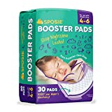Sposie Booster Pads Diaper Doublers, 30 Pads - for Overnight Diaper Leaks, No Adhesive for Easy repositioning, Fits Diaper Sizes 4-6