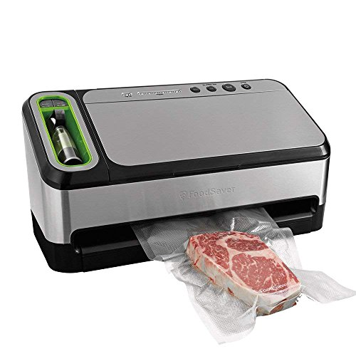 FoodSaver V4840 2-in-1 Vacuum Sealer Machine with Automatic Bag Detection and Starter Kit | Safety Certified | Silver