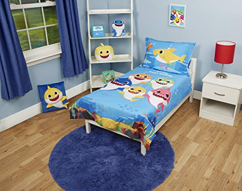 Baby Shark 4 Piece Toddler Bedding Set