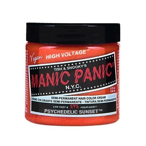 Manic Panic Hair Dye Classic Cream Color Psychedelic Sunset Orange Semi-Permanent Formula by Manic Panic BEAUTY