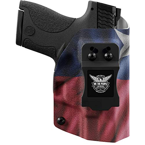 We The People - Texas Flag Right Hand Inside Waistband Concealed Carry Kydex IWB Holster Compatible with Taurus Millenium PT111 G2 / G2C 9MM Gun
