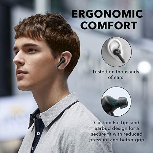 Anker Soundcore Life P2 True Wireless Earbuds with 4 Microphones, CVC 8.0 Noise Reduction, aptX Audio, Graphene Driver, USB C, 40H Playtime, IPX7 Waterproof, Wireless Earphones for Work, Home Office 16