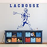 Lacrosse Wall Art - Boys Room Decor - Sports Wall Decals -