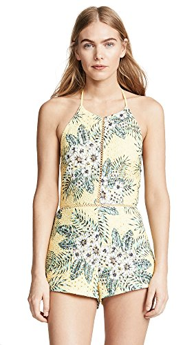 51tv86JtMrL Floral printed eyelet Halter neck Open back