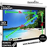 Luzon Dzire 8 X 6'Feet Motorised Projector Screen Home Theatre HD TV Projection 3D