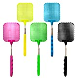Fly Swatter Manual Extendable Fly Swatter Plastic Durable Retractable Handle ... (5 pcs)