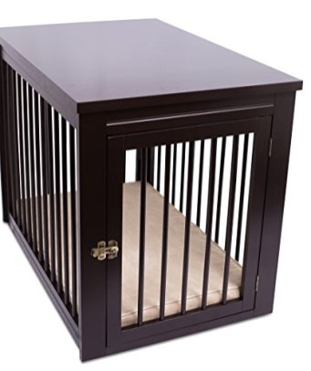 Internets-Best-Decorative-Dog-Kennel-with-Pet-Bed-Wooden-Dog-House-Large-Indoor-Pet-Crate-Side-Table-Espresso