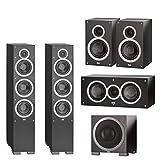 ELAC - Debut F6 Tower Speaker (Each) + ELAC C5 Debut Series 5.25' Center Speaker + ELAC S10EQ Debut Series 400 Watt Powered Subwoofer + ELAC B6 Debut Series 6.5' Bookshelf Speakers (Pair) Bundle