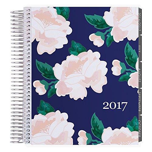 Erin Condren 12 Month 2017 Lifeplanner, Blossom- Midnight Hourly, Neutral Interior (AMA-12M 2017 06)