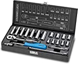 Channellock 34212 1/4' Drive Metric Socket set, 21 Piece