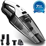 Deenkee Cleaner Hand Vac with 7 Kpa Suction, 14.8V Li-ion, Quick Charge Wet & Dry Handheld Vacuum Cordless for Home and Car Cleaning (Battery Detachable), 15.8in2.8in, Grey-White