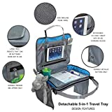 5-in-1 Premium Car Seat Travel Tray Unisex with 10.5' Tablet Holder for iPad Pro