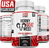 Horny Goat Weed Pills for Men & Women | Enhancement Supplement Aid |Testosterone Booster Pills with Maca & Tongkat Ali | 1500 MG Epimedium Capsules Maximum Strength