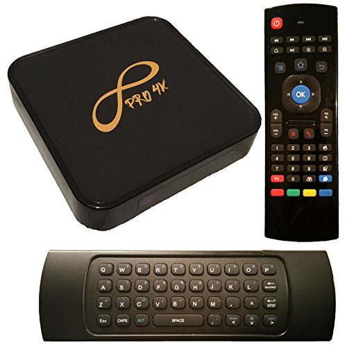 infinity 4k pro box. infinity pro 4k android tv box w/ qwerty air mouse infinity 4k n