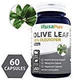 Best Olive Leaf Extract 750 mg 50% Oleuropein (Non-GMO & Gluten Free) - Vegetarian - Super Strength - Immune Support, Cardiovascular Health & Antioxidant Supplement - No Oil - 60 Capsules