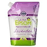 Ultra Epsom Premium Scented Epsom Salt, Lavender, 5 Lb
