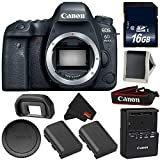Canon EOS 6D Mark II DSLR Camera (Body Only) 26.2MP Full-Frame International Version Bronze Level Bundle