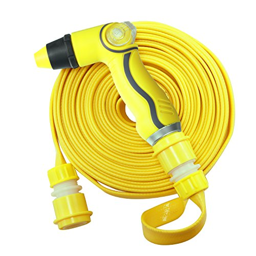 Car Wash Nozzle Genround Car Washing Kit 50ft Portable Water Hose With Thumb Control Garden