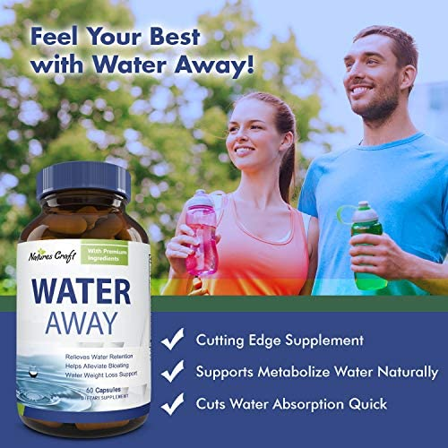 Water Away Diuretic Supplement with Dandelion Leaf – Bloat Relief Pills Weight Loss Relieve Swelling Water Retention – Natural Green Tea Extract Potassium Vitamin B6 for Men & Women 9
