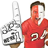 Inflatable Number One Hands - 16', 12 Pack (White) For Cheerleaders, Sport Fans,