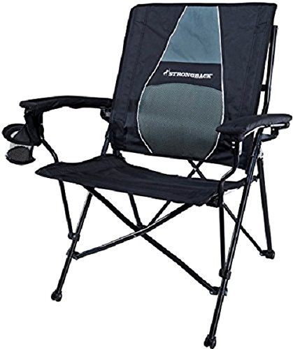 Strange Strongback Elite Folding Camping Lawn Lounge Chair Heavy Duty Camp Outdoor Seat With Lumbar Support And Portable Carry Bag Unemploymentrelief Wooden Chair Designs For Living Room Unemploymentrelieforg