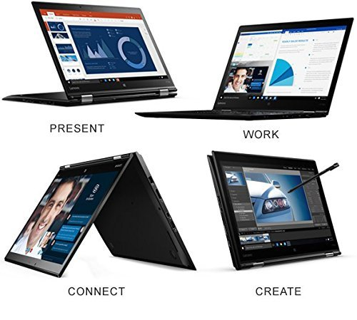 "Lenovo ThinkPad X1Yoga 20FQ 14"" Flip Design 2-in-1 Ultrabook, i7-6500U, 8GB RAM, 256GB SSD, 14"" FHD (1920x1080) IPS Anti-glare, Back-lit, Windows 10 Pro (20FQ001VUS)"