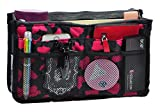 Purse Organizer,Insert Handbag Organizer Bag in Bag (13 Pockets 15 Colors 3 Size) (L, Rose Heart)