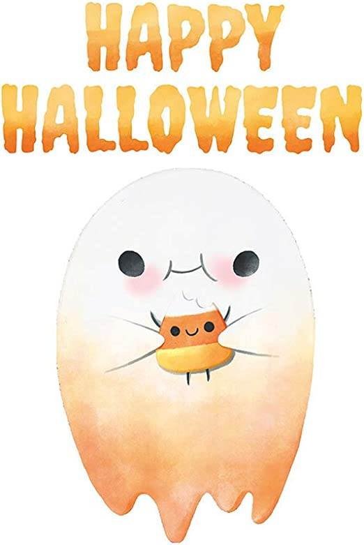 Amazon Com Home Find Cute Halloween Ghost Happy Halloween Wall Decals Mural Halloween Vinyl Stickers Halloween Wallpaper Removable Self Adhesive Arts Party Decorations Supplies 12 X 18 Inches Home Kitchen