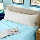 WhatsBedding Memory Fiber Full Body Pillows for Adults -Removable Zippered Bamboo Cover Breathable Cooling Hypoallergenic Bed Body Pillow Long Pillow for Side Sleeper-20 x 54 inch Long Pillow &Cover