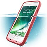 iPhone 7 Plus Case, i-Blason Waterproof Full-body Rugged Case with Built-in Screen Protector for Apple iPhone 7 Plus 2016 Release (Pink)