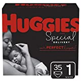 Huggies Special Delivery Hypoallergenic Baby Diapers, Size 1 (8-14 lbs.), 35 Count, Jumbo Pack