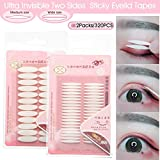 Hooded Droopy Eyelid Tapes Stickers, Natural Ultra Invisible Two-sided Sticky Double Eyelid Tapes, Medical-use Self-adhesive Fiber, Instant eye lift strips