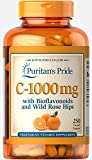 Puritan's Pride Vitamin C-1000 mg with Bioflavonoids & Rose Hips-250 Caplets