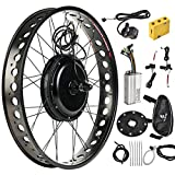 Murtisol Electric E-Bike Motor Kit 26'' Fat Tire Rear Wheel 48V 1000W Bicycle Motor Conversion Kit