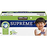 Kirkland Signature Supreme Diapers Size 5, Quantity 150 by Kirkland Signature
