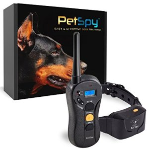 PetSpy P620 Dog Training Shock Collar for Dogs with Vibration, Electric Shock, Beep; Rechargeable and Waterproof Remote Trainer E-Collar – 10-120 lbs